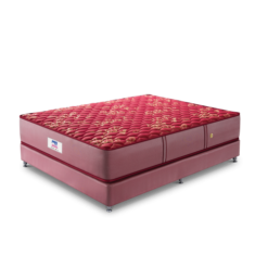 peps-spring-koil-mattress-maroon with base